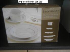 20 piece dinner set
