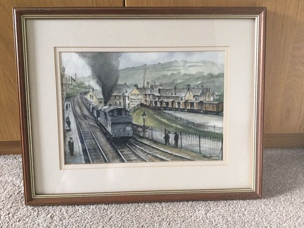 Original Watercolour by Ben Harris local Welsh Artist Framed/Glazed H15.25in/38.5cmW19.25in/48.5cm
