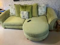 3 Seater chaise, love chair and footstool