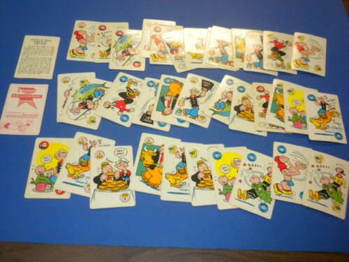 37 POPEYE PLAYING CARD GAME ED-U-CARDS