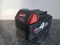 Milwaukee M18 Red Lithium 18v li-ion 4.0ah battery,,,,MAKITA DeWALT