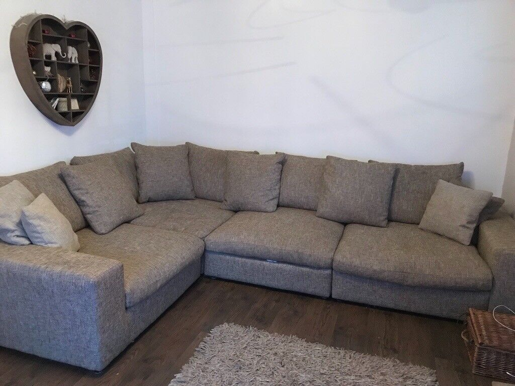 Large corner sofa in biscuit colour. | in Standish, Manchester | Gumtree