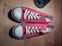 Brand New RED Size 7 Atmosphere Plimsoles / Beach Shoes