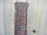 Butterfly Print Sun Dress Size Small Will Fit A Size 6 Up To A Size 10. Only Worn Once.