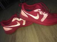 Red Nike trainers size UK 10
