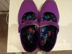 Girls Mountain Warehouse shoes - size 3 purple