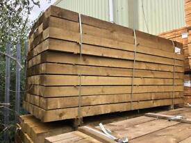 🌳 *New* Pressure Treated Wooden/ Timber Railway Sleepers