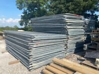 Used - Temporary Site Security Heras Fencing Panels