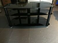 SONY TV Stand 3 Tier - Black Glass (British Standard Stamped)