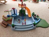 Playmobile swimming pool playset game 4858