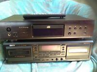 Denon CD player free denon tape deck