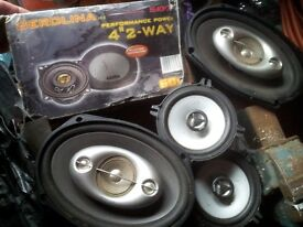 6 Car Speakers Kenwood Sony Berolina