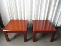 PAIR OF MATCHING MODERN SQUARE SIDE TABLE FREE DELIVERY