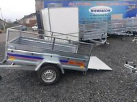 BRAND NEW MODEL 7x4 TRAILER SINGLE AXLE WITH 40CM MESH AND A RAMP 750KG