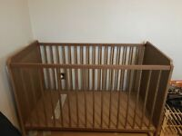 Baby wooden Cot excellent condition
