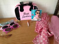Fancy dress pink ladies accessories
