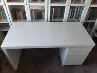 White Ikea MALM desk £30