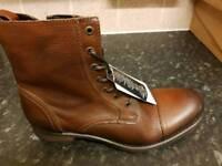 New Jack Jones size 10 savek cognac boots