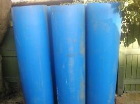 heavy duty blue plastic pipes, for under driveways ? etc.