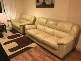 Half-leather sofa set