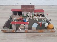 Vintage Kids Play Zoo With Farm And Animals (DELIVERY AVAILABLE)