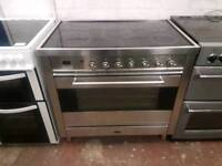 BRITANNIA ELECTRIC RANGE COOKER 90CM WIDTH STAINLESS STEEL COLOUR