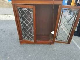 Mahogony and glass display cabinet