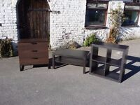 3 pieces ikea furniture chest of drawers coffee table cabinet