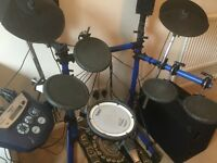 Roland TD-6 V Drums with mesh head snare and Yamaha bass pedal