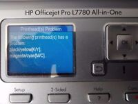 HP Officejet Pro L7780 printer/scanner/copier for spares/repair
