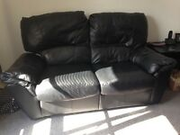 For sale 2 leather reclining sofas.In very good condition.Must be uplifted!