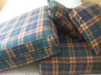 two seater sofa bed cushions and two small cushions
