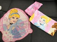 Disney princess single bed cover and rug