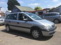 2002 Vauxhall Zafira 1.8 7 seater. one former keepers. new mot2019