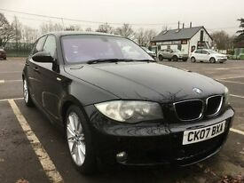 BMW M Sport 118 tdi Black Fully Loaded Very Good Condition 07775677888