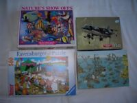 Kid's jigsaws x 5, 100- 500 pieces, priced individually from 75p happy to separate