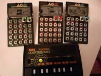 Teenage engineering pocket operators synth and Korg monotron delay