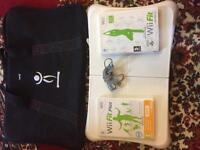 Wii fit board and games with protective carry case