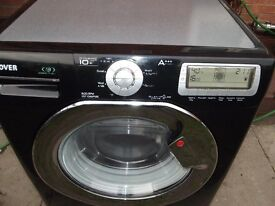 Black Hoover 10KG washing machine in good clean working order 3 months warranty Call/Text youdmstore