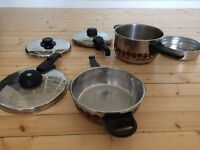 Two Fissler Vitavit Pressure Cookers - very good condition