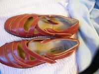 Ladies red shoes size 6