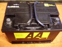 Car battery 2 weeks old 12 volt as new good quality.