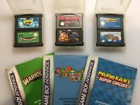 6 Classic Gameboy Advance Games - Mario Kart - YuGiOh & More - For Nintendo Game Boy Advance Console