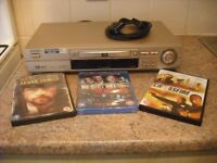 AIWA DVD PLAYER, EXCELLENT CONDITION - & 30 DVD FILMS. SEE DETAILS & PHOTOS.