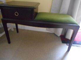 Stag Minstrel telephone/ hall table with seat