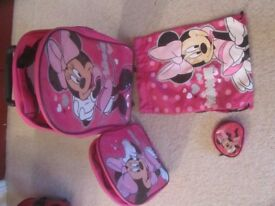 Minnie Mouse Pull Along Bag, Rucksack, Purse and Swim Bag