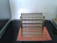 Glass Bricks/Blocks (8), old/vintage/original + substantial, appro 19x19x10cm horizontal/vertical li