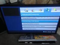 "Samsung 43"" HD lightweight plasma tv with wall bracket"