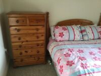 DOUBLE BED WITH HEADBOARD DRAWERS AND BEDSIDE LOCKER £120 FREE DELIVERY ANYTIME