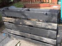 Free wooden pallets x 2